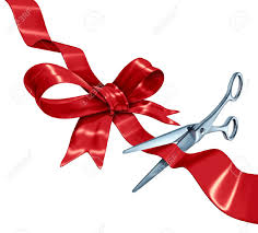 Present Decoration Bow And Ribbon Cutting With A Silk Gift Wrapping Decoration