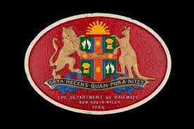 New South Wales Flag Locomotive Builders Plate New South Wales Government Railways