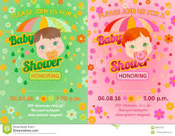Invitation Card Message Baby Shower Message Card Stock Vector Image 56837763