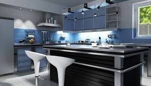 Cream Kitchen Cabinets With Blue Walls French Country Kitchen Cream Cabinets Light Blue Walls And Black