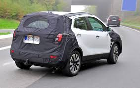vauxhall mokka trunk spyshots 2016 opel mokka facelift getting led headlights