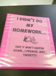 Keeping Track of Late Missing Assignments No Homework Binder