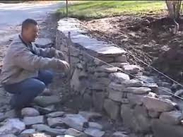 how to build a new england fieldstone wall by david croteau youtube