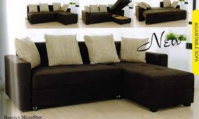 Sectional Sleeper Sofa With Storage Terrific Microfiber Sectional Sleeper Sofa Lakeland Sectional