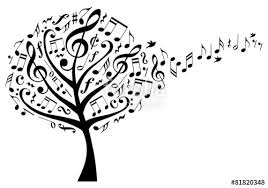tree with musical notes vector stock image and royalty