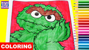 coloring pages oscar the grouch sesame street coloring book