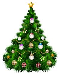 beautiful christmas tree with ornaments png clip art image