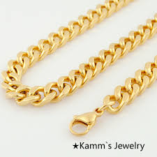 2015 men s jewelry 8mm 60cm new arrival 60cm 8mm fashion simple design gold color flat curb chain necklace
