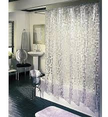 Silver Shower Curtains Elegant Silver Transparent Shower Curtains Bathroom Vanities Ideas
