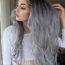 black at root of hair gallery gray silver hair dye color women black hairstyle pics