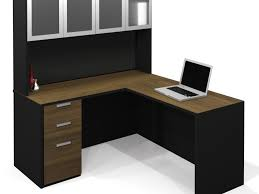 Corner Desks With Hutch For Home Office by Office Desk Incredible Enchanting Dark Brown Wood Computer Desk