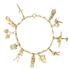 charm bracelet charm bracelet with mechanical moving charms at 1stdibs