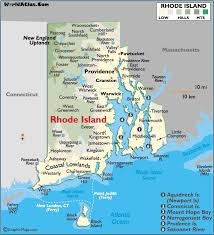 map rhode island map of rhode island large color map