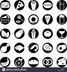 drink vector collection of 25 solid food and drink vector icons in circles