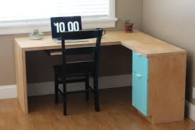 l shape modern plywood desk do it yourself home projects from