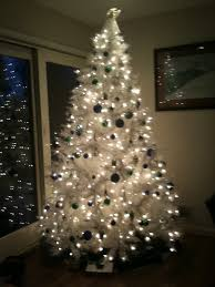 ornaments silver tree ornaments white and