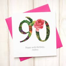 personalised floral 80th birthday card by chi chi moi