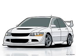 mitsubishi lancer drawing evo8 by is it icy on deviantart