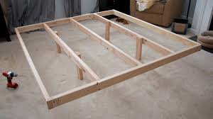 King Size Bed Frame Diy Glitter And Goat Cheese Diy King Sized Wood Platform Bed