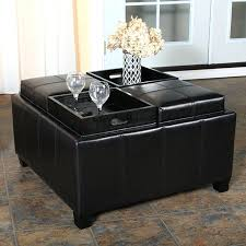 coffee tables simple large tufted ottoman coffee tableblack