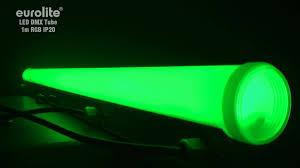 outdoor tube lighting eurolite led dmx tube 1m rgb ip20 youtube