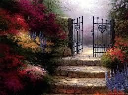 pastel paintings iron gate kinkade prints wall