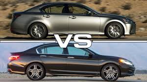 lexus v6 coupe 2016 lexus gs 200t vs 2016 honda accord youtube