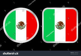 Green Black Red Flag Mexico Flag Two Icon On Black Stock Vector 14005672 Shutterstock