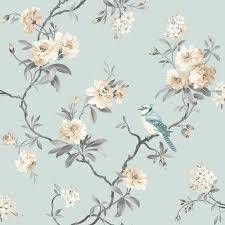 Duck Egg Blue Home Decor 12 99 Fine Decor Chinoiserie Floral Wallpaper Teal Fd40765