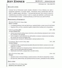 resume examples for customer service resume template and