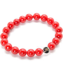 red beads bracelet images La familia trap red beaded bracelet zumiez jpg