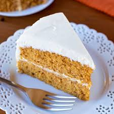 pumpkin layer cake with maple vanilla bean frosting life made simple