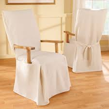 White Dining Room Chair Covers Entranching Remarkable Ideas Dining Room Chair Covers With Arms