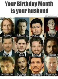 Game Of Thrones Birthday Meme - your birthday month is your husband giimadirewolf ung january