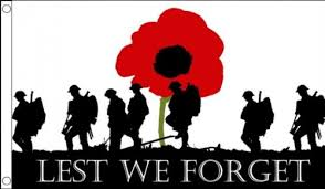 5ft x 3ft 150 x 90 cm lest we forget poppy remembrance day war