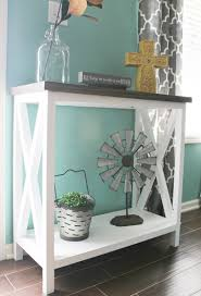 Turquoise Console Table To Build An X Base Console Table