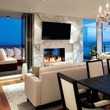 Sided Outdoor Fireplace - two sided gas fireplace indoor outdoor indoor outdoor fireplaces 2