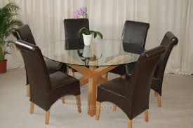 solid oak round dining table 6 chairs round glass dining table for 6 the wheaton wire