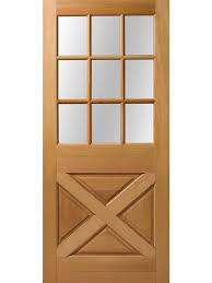 9 Lite Exterior Door Exterior Fir Crossbuck 9 Lite Door 6 8 Height 1 3 4 Thick Single