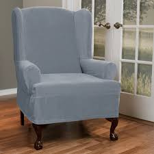Reclining Wingback Chairs Decor Recliner Using Oversized Chair Slipcover In Teal For Home