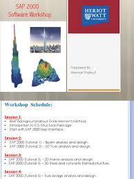 sap 2000 workshop finite element method beam structure