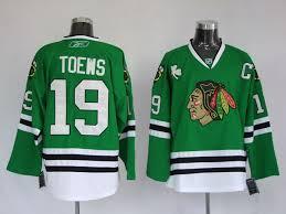 chicago blackhawks 19 jonathan toews green jersey chicago