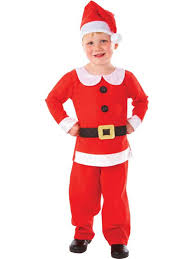 the child in a suit of santa claus royalty free stock images