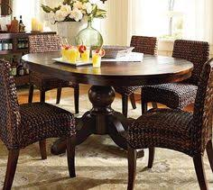 Reclaimed Wood Dining Table With Wicker Dining Chairs Kitchens - Round dining table with wicker chairs