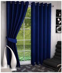 Z Decor Set 2 Window Eyelet Curtains Plain Navy Buy Z