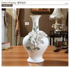 ceramic chinese white modern flowers vase home decor large floor