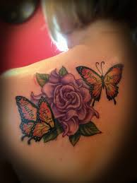flower and butterfly com tattoosbybecky