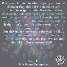 Barnes Enterprises Inc Making An Impact U2014 Truckers Against Trafficking