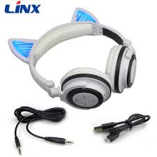 light up cat headphones new 2017 most adorable csr chip wireless bluetooth over ear
