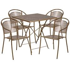 Folding Patio Furniture Set by Flash Furniture 28 U0027 U0027 Square Indoor Outdoor Steel Folding Patio